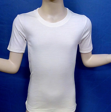 521W BOYS MERINO WOOL SHORT SLEEVE UNDERSHIRT