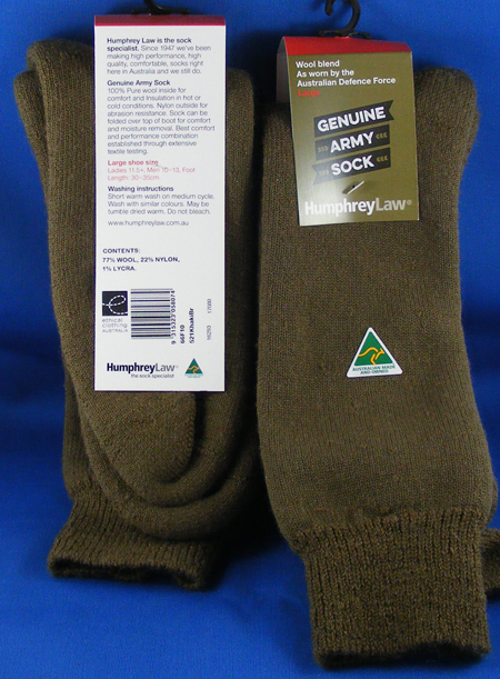 66F-AUSTRALIAN ARMY WOOL SOCK