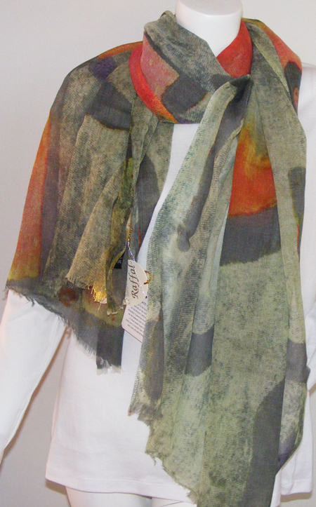 Raffal PRM Abstract Print Stole
