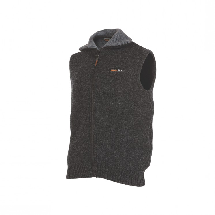 (MS1729)Tasman Vest (zip up) double layer wool possum