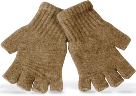 (6602) Glove fingerless possum and lambswool