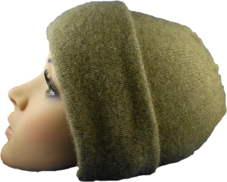 (4601) Beanie hat possum lambswool and silk